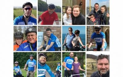 Andrew cycles for diabetes charity