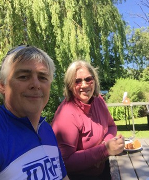Andrew Draper Oak House Vets Carlton cycling to Paris to raise funds for a charity supporting his son living with Type 1 diabetes