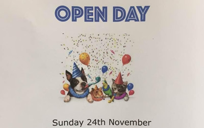 Open day on Sunday 24th November