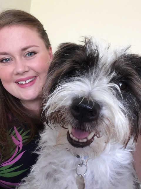 Jen Goode and dog